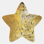 Retrato de Adela Bloch-Bauer I - Gustavo Klimt Calcomanías Forma De Estrella Personalizadas