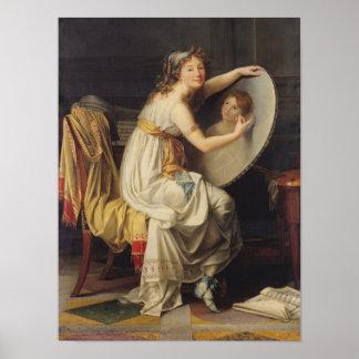 Retrato de Adelaide color de rosa Ducreux Poster