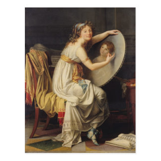 Retrato de Adelaide color de rosa Ducreux Tarjeta Postal