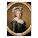 Retrato de Adelaide de Francia 1791 Tarjeta De Felicitación