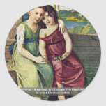 Retrato de Adelheid y de Gabriela Von Humboldt Etiquetas Redondas