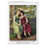 Retrato de Adelheid y de Gabriela Von Humboldt Tarjeta