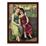 Retrato de Adelheid y de Gabriela Von Humboldt Postales