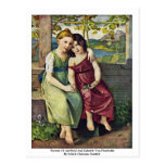 Retrato de Adelheid y de Gabriela Von Humboldt Tarjetas Postales