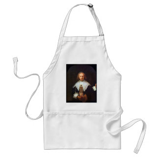 Retrato de Agatha Bas de Rembrandt Delantal