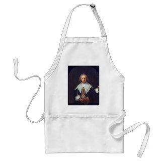 Retrato de Agatha Bas de Rembrandt Harmensz. Van Delantales