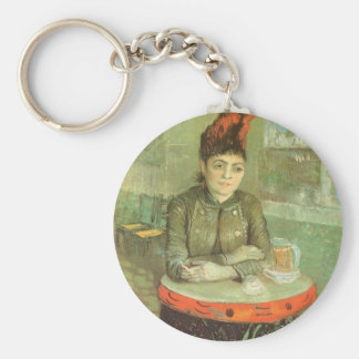 Retrato de Agostina Segatori de Vincent van Gogh Llavero Redondo Tipo Pin
