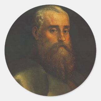 Retrato de Agustín Barbarigo de Paolo Veronese Pegatina Redonda