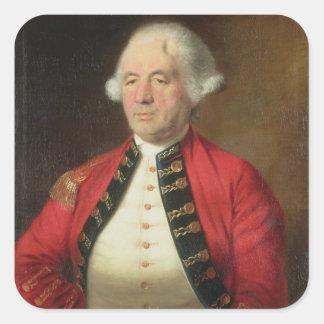Retrato de Agustín Prevost 1723-86 en uniforme Calcomanias Cuadradas