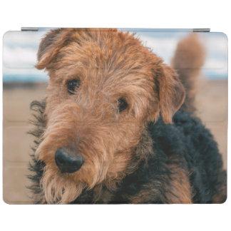 Retrato de Airedale Terrier 2 Cubierta De iPad