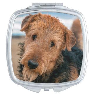 Retrato de Airedale Terrier 2 Espejo De Viaje