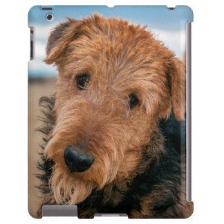 Retrato de Airedale Terrier 2 Funda Para iPad