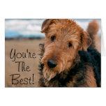 Retrato de Airedale Terrier 2 Tarjeta De Felicitación
