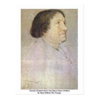 Retrato de alcalde Of Basilea de Jacobo Meyer Zum  Postales