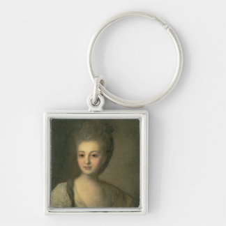 Retrato de Alejandra P. Struyskaya 1772 Llavero Cuadrado Plateado