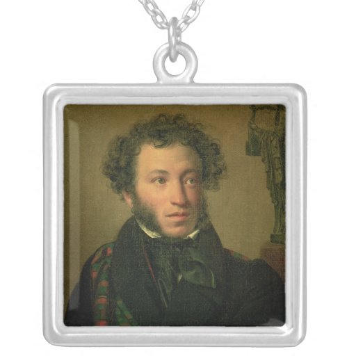 Retrato de Alexander Pushkin, 1827 Colgante Cuadrado