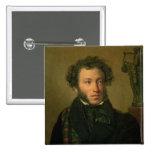 Retrato de Alexander Pushkin, 1827 Pin Cuadrada 5 Cm