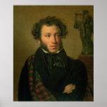 Retrato de Alexander Pushkin, 1827 Póster