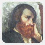 Retrato de Alfred Bruyas Pegatina Cuadrada