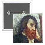 Retrato de Alfred Bruyas Pin Cuadrado