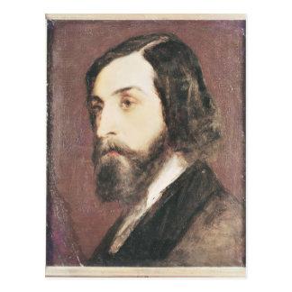 Retrato de Alfred de Musset Postal