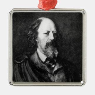 Retrato de Alfred, señor Tennyson c.1860s Adornos De Navidad