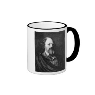Retrato de Alfred, señor Tennyson c.1860s Taza De Café