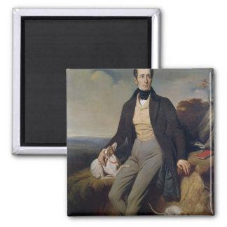 Retrato de Alphonse de Lamartine 1830 Imán Cuadrado