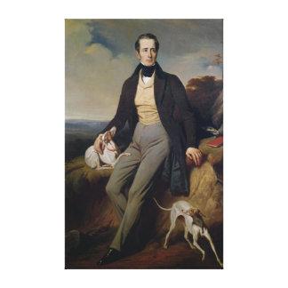 Retrato de Alphonse de Lamartine 1830 Impresión De Lienzo