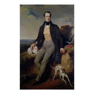 Retrato de Alphonse de Lamartine 1830 Póster