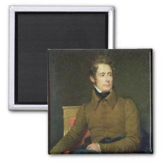 Retrato de Alphonse de Lamartine, 1831 Imán Cuadrado