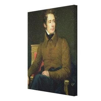 Retrato de Alphonse de Lamartine, 1831 Lona Envuelta Para Galerías