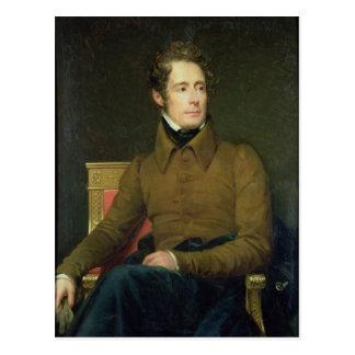 Retrato de Alphonse de Lamartine, 1831 Postal