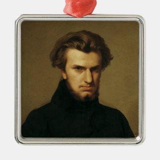 Retrato de Ambroise Thomas 1834 Adorno Navideño Cuadrado De Metal