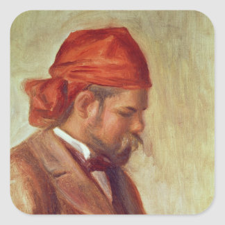 Retrato de Ambroise Vollard Pegatina Cuadrada