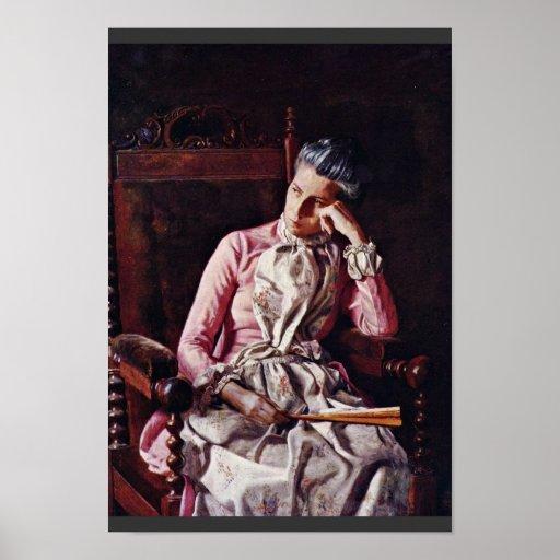 Retrato de Amelia Van Buren de Thomas Eakins ( Póster