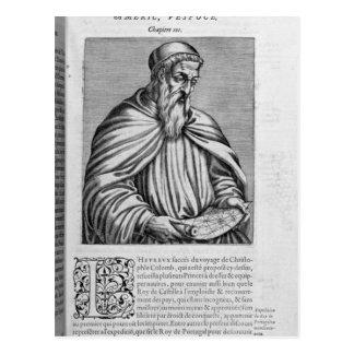 Retrato de Amerigo Vespucci Tarjeta Postal