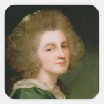 Retrato de Ana Barbara Russell Calcomania Cuadradas Personalizada