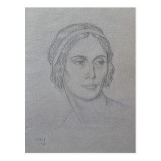 Retrato de Ana Pavlova, 1908 Postal