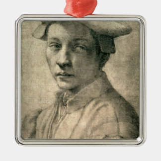 Retrato de Andrea Quaratesi, c.1532 Adorno Navideño Cuadrado De Metal