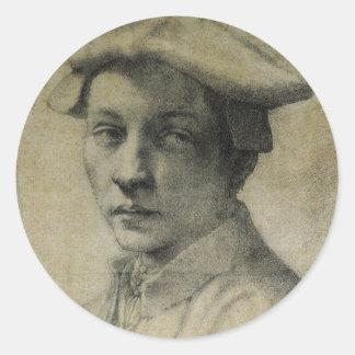 Retrato de Andrea Quaratesi de Miguel Ángel Pegatina Redonda