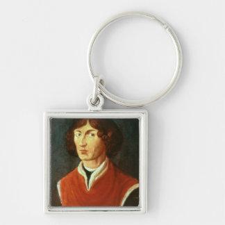 Retrato de Andreus Nicolás Copernicus 1575 Llavero Cuadrado Plateado