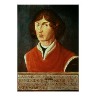 Retrato de Andreus Nicolás Copernicus 1575 Póster