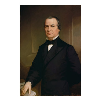 Retrato de ANDREW JOHNSON por Washington B Cooper Posters