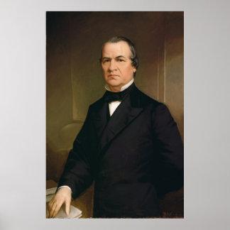 Retrato de ANDREW JOHNSON por Washington B. Cooper Póster