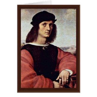 Retrato de Ángel Doni por Raphael (la mejor calida Tarjeta De Felicitación