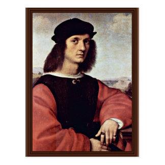 Retrato de Ángel Doni por Raphael (la mejor calida Tarjeta Postal