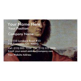 Retrato de Ángel Doni por Raphael (la mejor calida Tarjetas De Visita