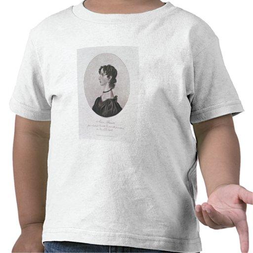 Retrato de Anne Bronte (1820-49) de un dibujo i Camisetas
