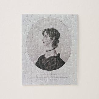 Retrato de Anne Bronte (1820-49) de un dibujo i Puzzle Con Fotos